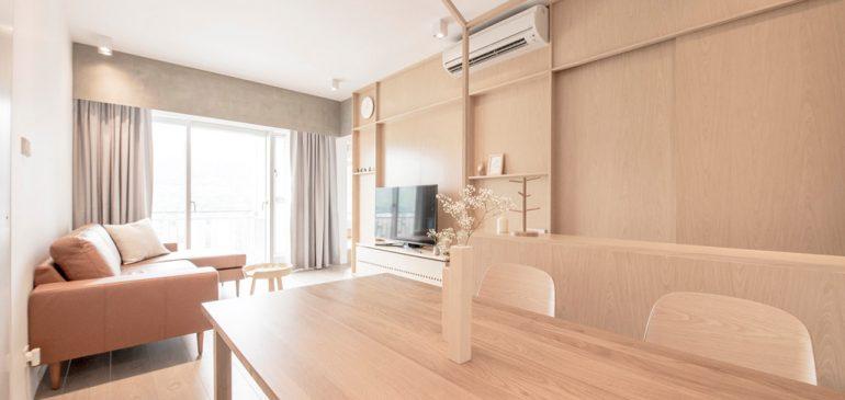 (Tiếng Việt) Căn hộ tối giản ấm áp với nhiều lớp nội thất gỗ
